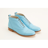 Smooth Boots Baby Blue Leather