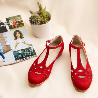 Spring Red Suede